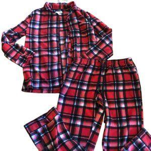 CAROLE HOCHMAN Flannel Fleece Pajama Set M